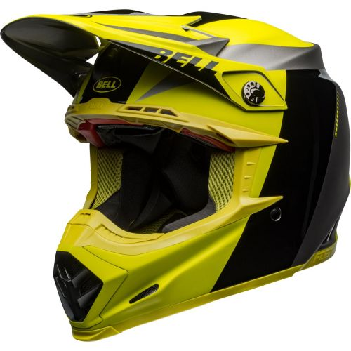 Bell Moto-9 FLEX Division Matt / Gloss Black / Hi-Viz / Grey