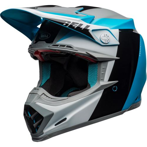 Bell Moto-9 Flex Division Matt / Gloss White / Black / Blue