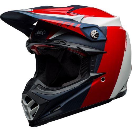Bell Moto-9 Flex Division Matt / Gloss White / Blue / Red